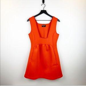 square neck mini dress